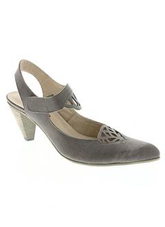 Escarpins gris CORINE pour femme