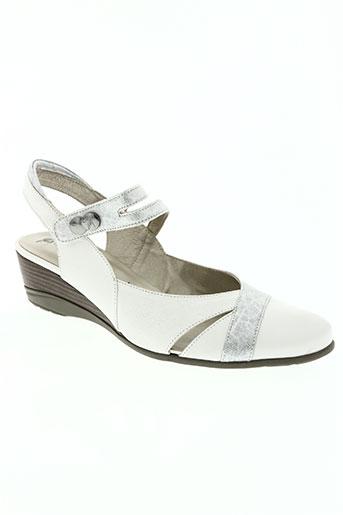 j.metayer chaussures femme de couleur blanc