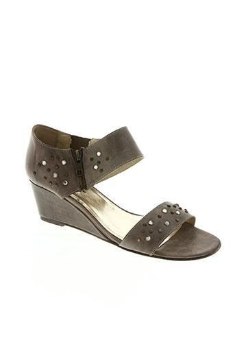 alain bastiani chaussures femme de couleur marron