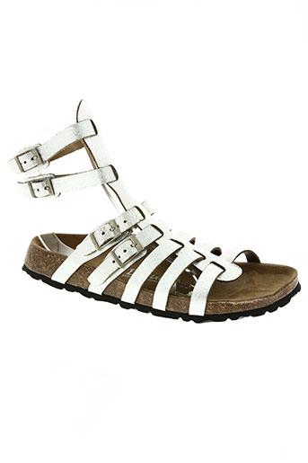 betula chaussures fille de couleur gris