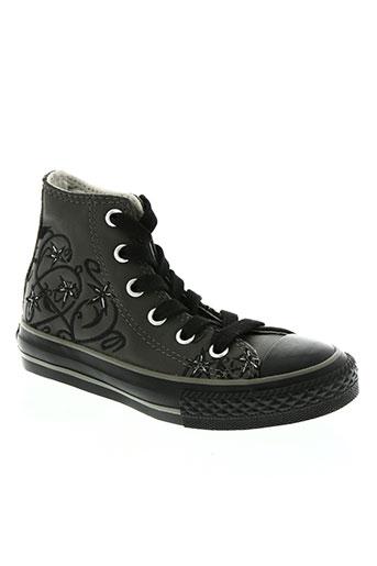 converse chaussures fille de couleur gris