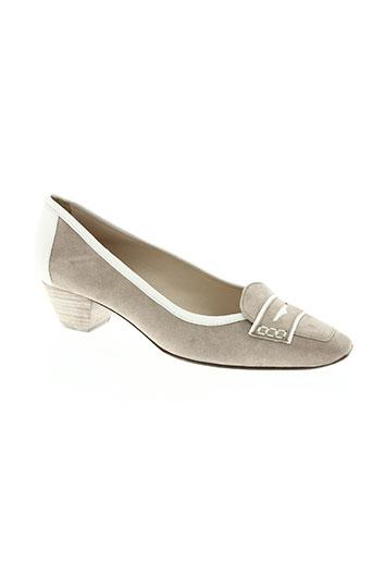 france mode chaussures femme de couleur beige