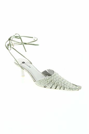 france mode chaussures femme de couleur vert