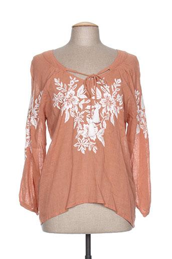 charlie joe chemises femme de couleur orange