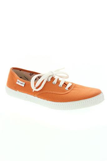 victoria chaussures garçon de couleur orange