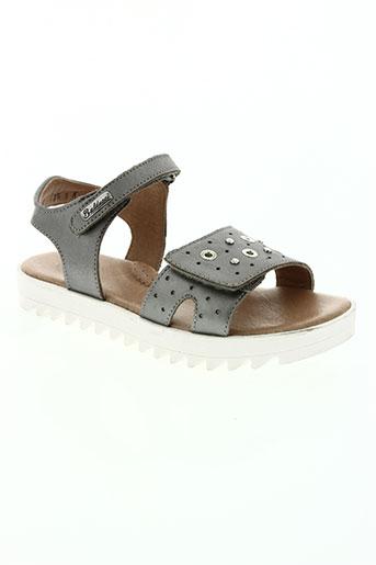 isabella balducci chaussures fille de couleur gris