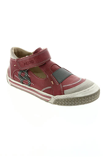 mod8 chaussures garçon de couleur rouge