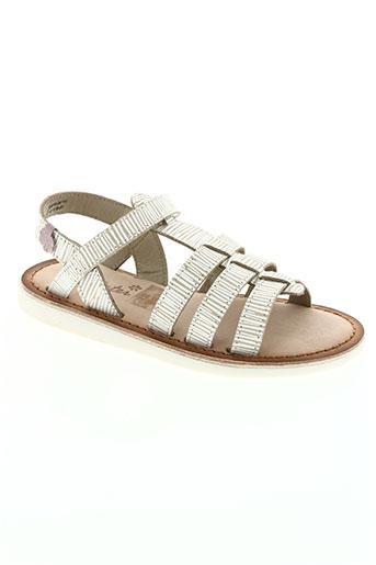 aster chaussures fille de couleur beige