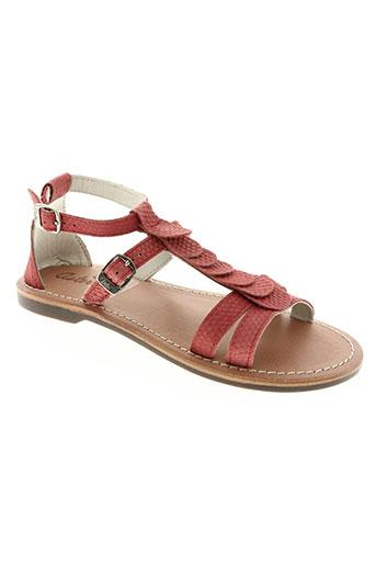 aster chaussures fille de couleur orange