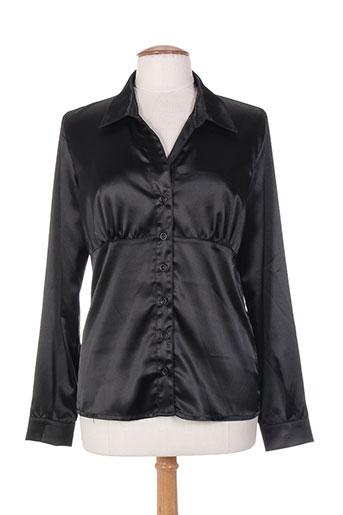 renatto bene chemises femme de couleur noir