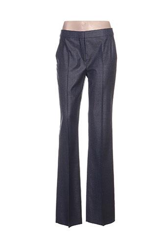 maxmara pantalons femme de couleur bleu