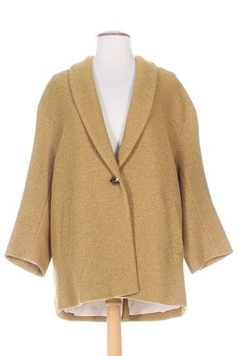 gerard darel manteaux femme de couleur jaune