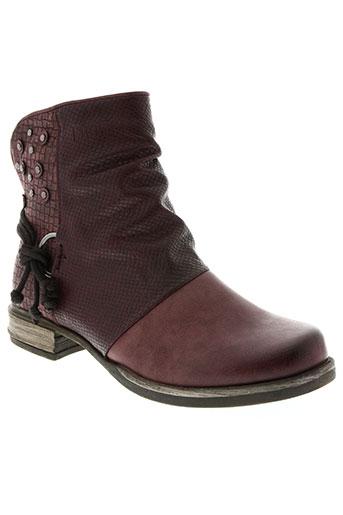 delires de fille chaussures femme de couleur rouge
