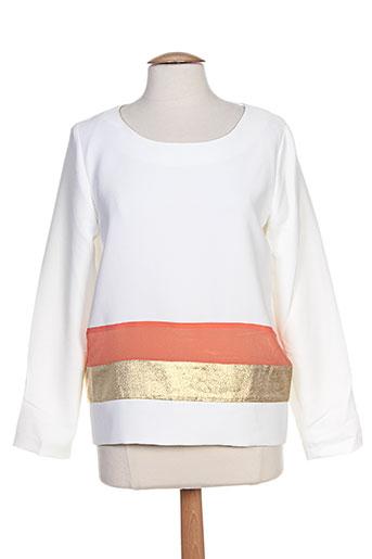 ella luna chemises femme de couleur blanc