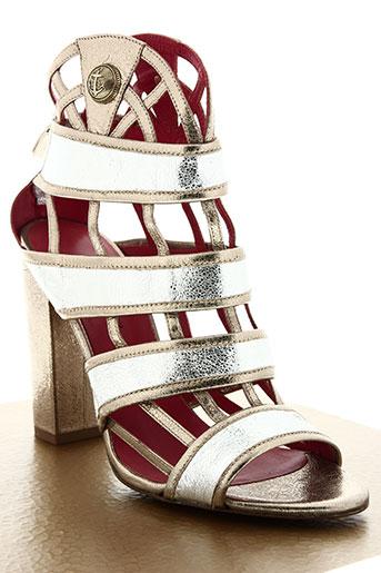 pura lopez chaussures femme de couleur gris