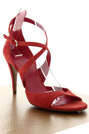 pura lopez chaussures femme de couleur rouge