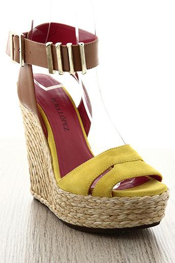 pura lopez chaussures femme de couleur jaune