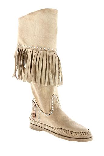 karma of charme chaussures femme de couleur beige