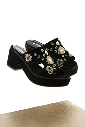 apepazza chaussures femme de couleur noir
