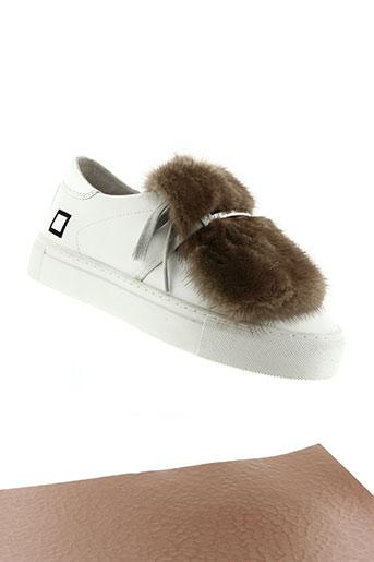 date chaussures femme de couleur blanc