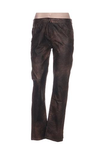 pause cafe pantalons femme de couleur marron