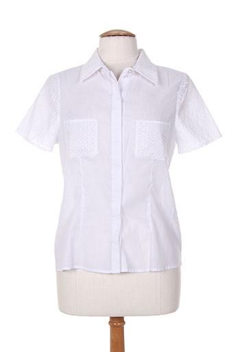 karting chemises femme de couleur blanc