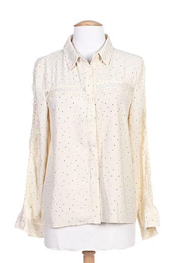 cerise blue chemises femme de couleur beige