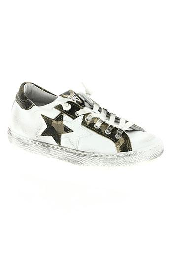 star chaussures fille de couleur blanc