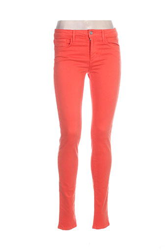 joe s pantalons femme de couleur orange