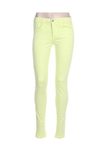 joe s pantalons femme de couleur jaune