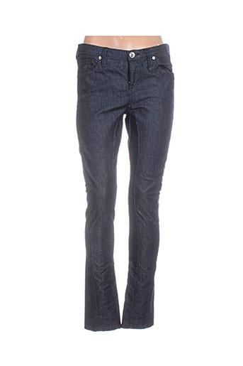 freesoul jeans femme de couleur bleu