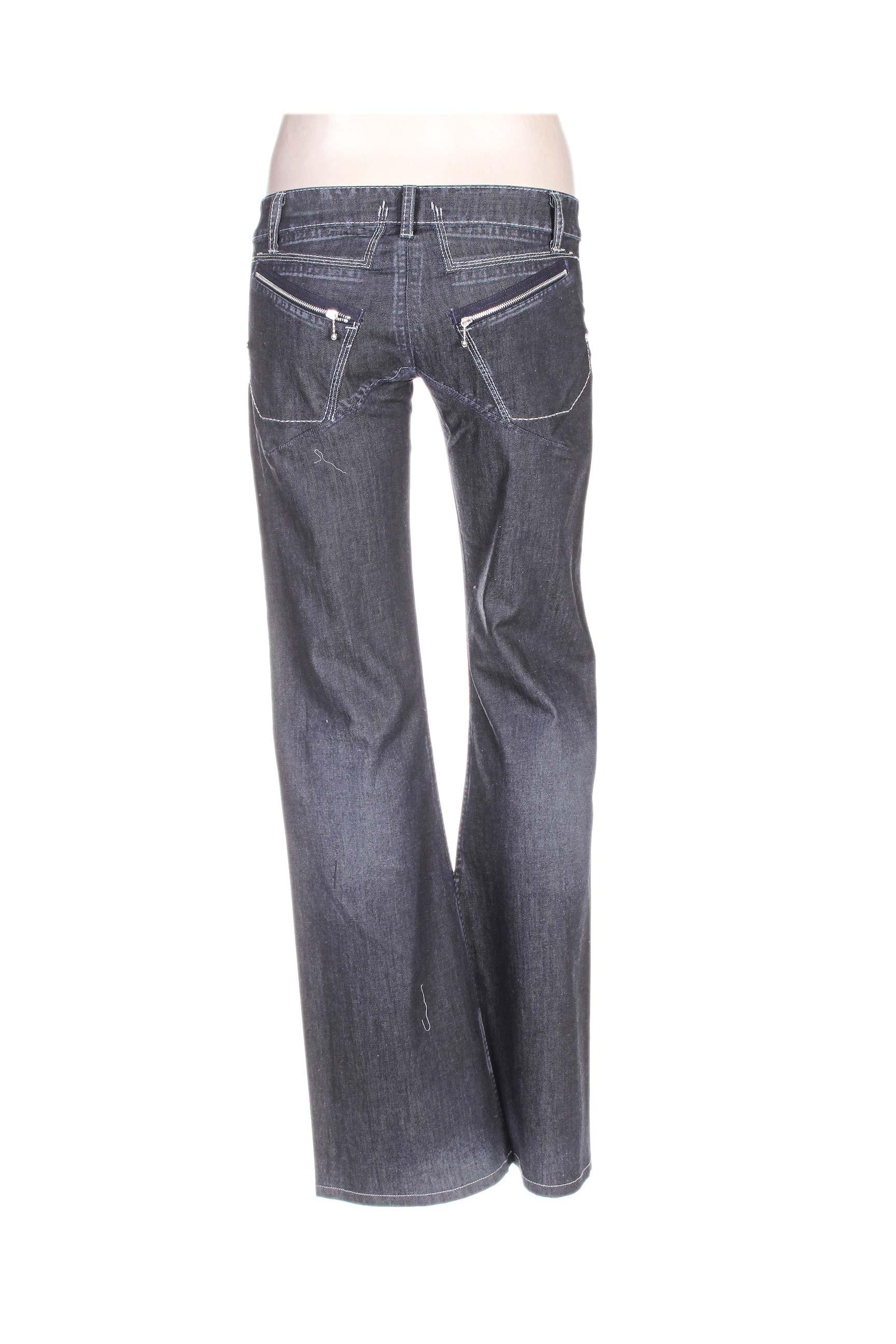 Marithe Francois Girbaud Jeans Coupe Large Femme De Couleur Gris En Soldes Pas Cher 1103597 ...