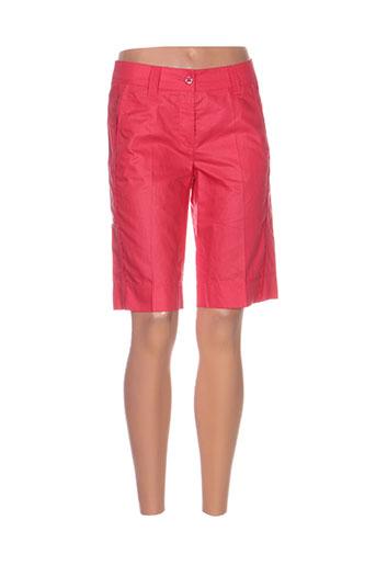 luisa cerano shorts / bermudas femme de couleur rouge