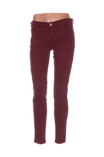 Pantalon casual rouge CURRENTE/ELLIOTT pour femme