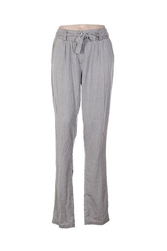bleu de sym pantalons femme de couleur gris