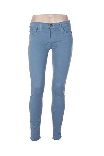Pantalon casual bleu CURRENTE/ELLIOTT pour femme