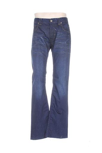 freesoul jeans homme de couleur bleu