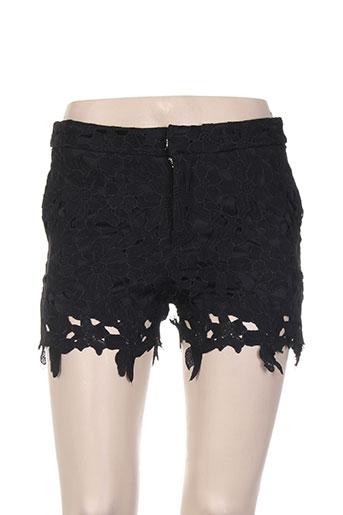 cherry koko shorts / bermudas femme de couleur noir