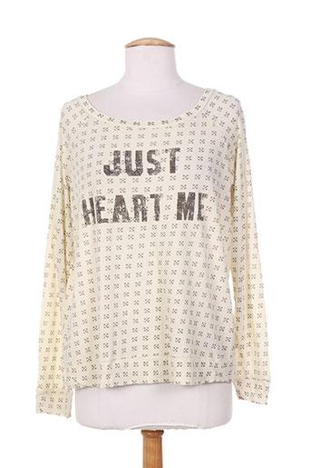 i love my t's t-shirts femme de couleur beige