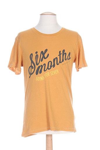 T-shirt manches courtes orange NUDIE JEANS CO pour homme