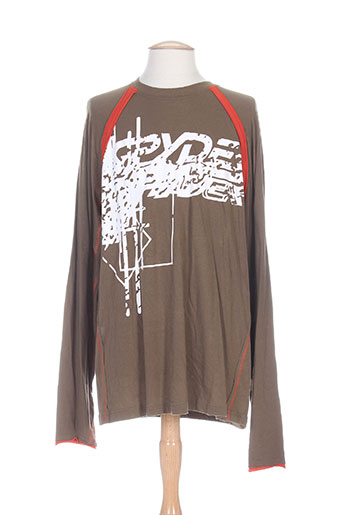 T-shirt manches longues marron SPYDER pour homme