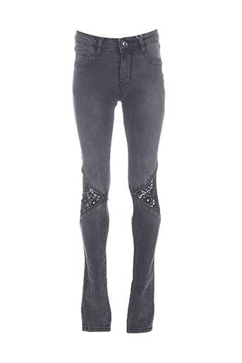 laulia jeans femme de couleur gris