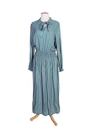 think chic robes femme de couleur bleu