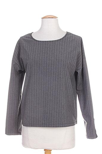 lumina t-shirts femme de couleur gris