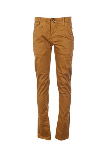 biaggio pantalons garçon de couleur marron