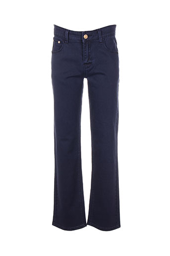 biaggio pantalons garçon de couleur bleu