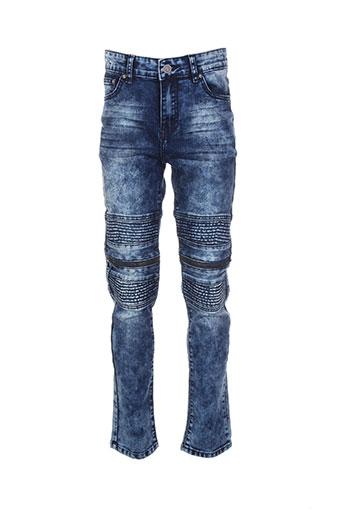 rivaldi jeans fille de couleur bleu