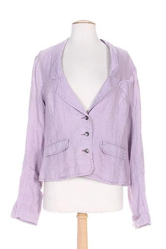 r867 vestes femme de couleur violet