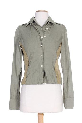 mason's chemises femme de couleur vert