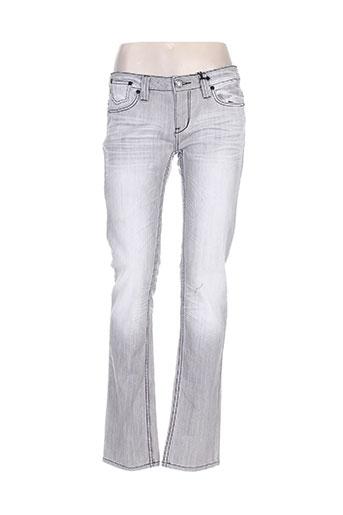 one green elephant jeans femme de couleur gris